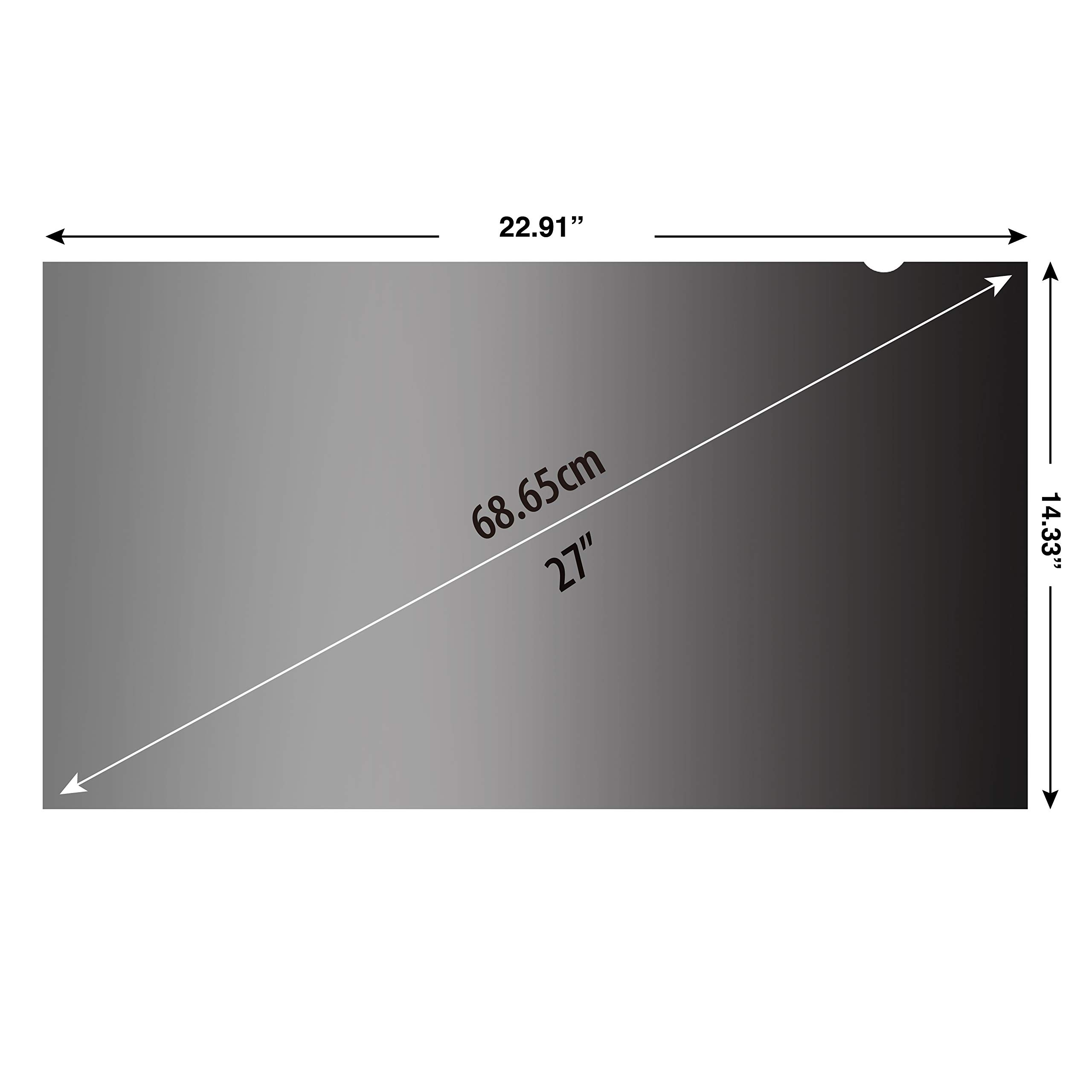 KAEMPFER 27 inch(Diagonally Measured) 16:10 Aspect Ratio Privacy Screen Protector Filter Widescreen Computer Monitor (22.9'' x 14.3'' / 582 x 364mm) Please Measure Carefully by KAEMPFER (Image #3)