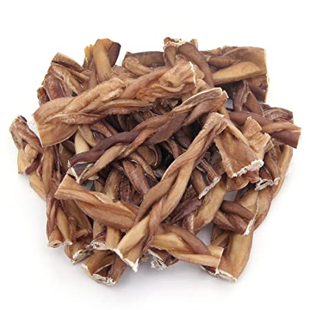 GigaBite Odor-Free Braided Bully Sticks – USDA FDA Certified All Natural, Free Range Beef Pizzle Dog Treat – by Best Pet Supplies