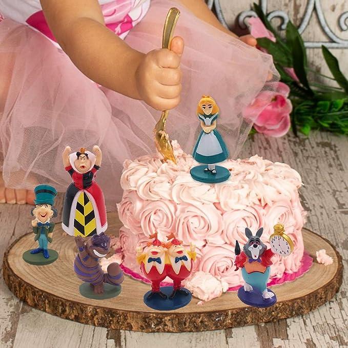 Caricatura Cake Topper 8 Piezas SZWL Mini Juego de Figuras Fiesta de Cumplea/ños DIY Decoraci/ón Suministros Ni/ños Mini Juguetes Baby Shower Fiesta de cumplea/ños Pastel Decoraci/ón Suministros