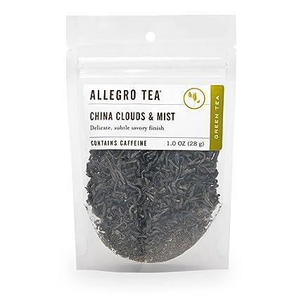 Allegro Té, nubes y niebla china, té de hojas sueltas, 1 oz ...
