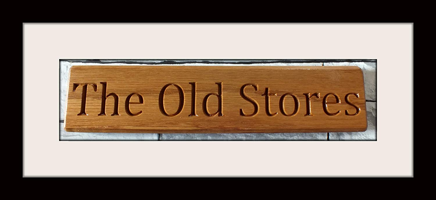 Signs at Home Carved House sign 400mmx 100mm Solid Oak