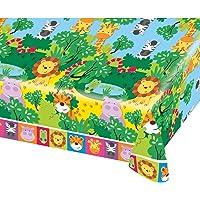 Manteles de plástico con animales de la selva de 1,8 x 1,2 m Amscan International 9901918 , color/modelo surtido