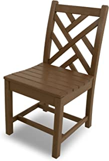 product image for POLYWOOD CDD100TE Chippendale Dining Side Chair, Teak