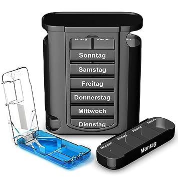 Travelfancy Tablettenbox 7 Tage Je 4 Facher Und Tablettenteiler