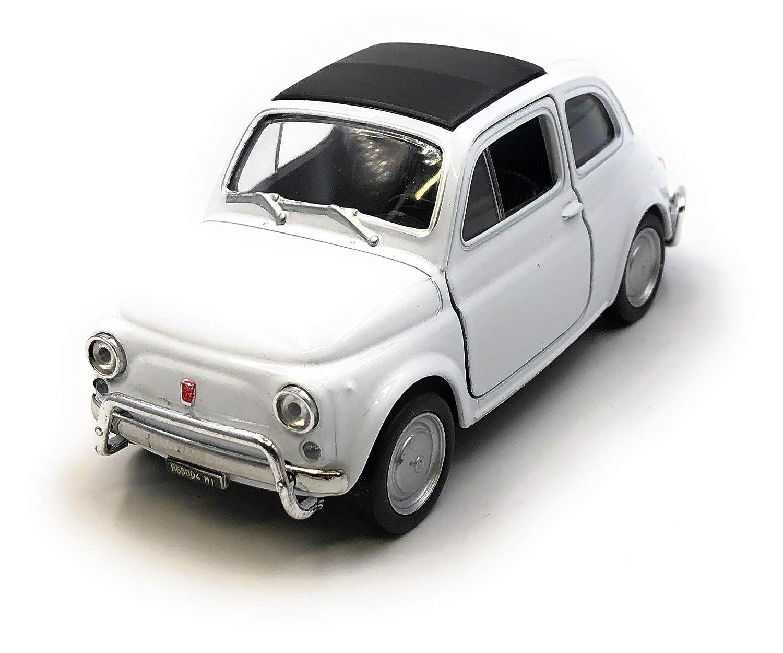 34-39 Onlineworld2013 Mod/èle de Voiture Nuova 500 1957-1975 Oldtimer Orange Car Scale 1 licenci/é