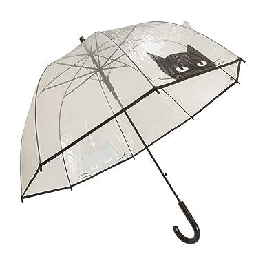 X-brella - Paraguas transparente con gato (Talla Única/Gato Negro): Amazon.es: Ropa y accesorios