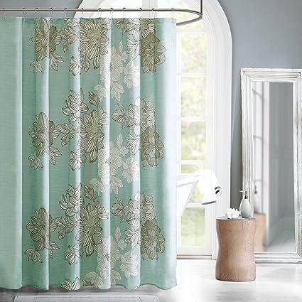 Madison Park MPE70 037 Essentials Avalon Shower Curtain 72x72u0026quot; ...