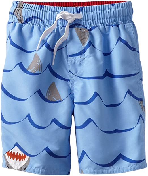 Wes and Willy Whale Stripe Swim Trunk