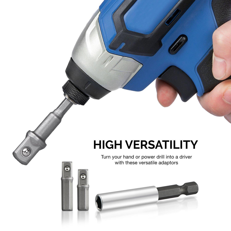 Amazon.com: Neiko 00257 Socket Adapter Drill Extension Bit Set, 9 ...