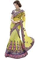 Mahotsav Women's Net , Art Silk Velvet Lehenga Choli ( 6430 )