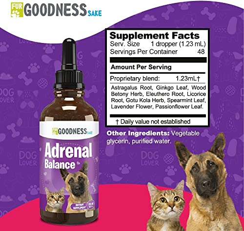 Fur Goodness Sake Best Cushings Treatment for Dogs – Adrenal Support for Dogs, Dog Cushings Drops to Make Them Happy and Healthy Again