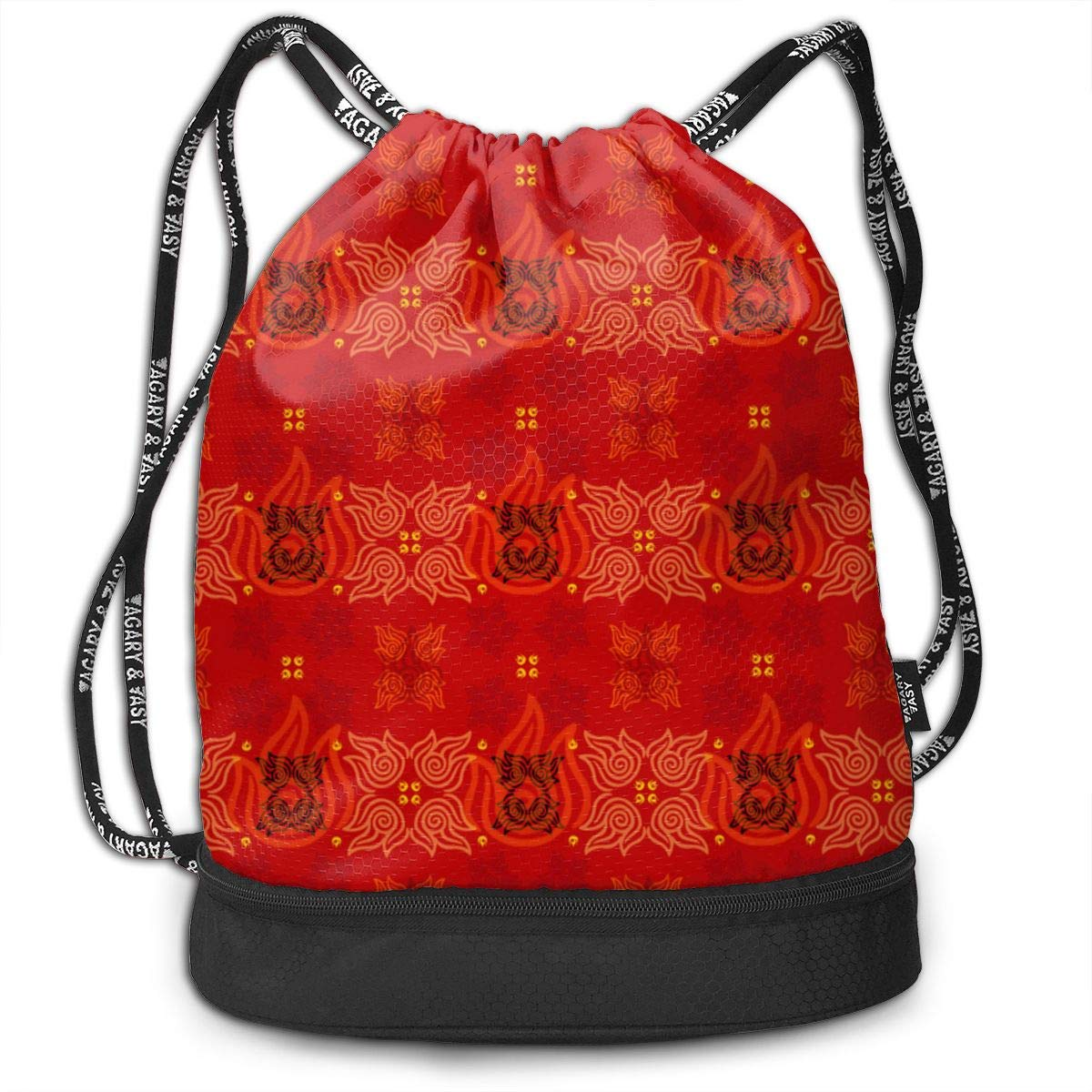 Avatar Fire Nation Drawstring Backpack Sports Athletic Gym Cinch Sack String Storage Bags for Hiking Travel Beach