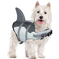Dog Life Jackets- Portable Dog Swimsuits Jacket Vest, Adjustable Dog Floating Jackets with Rescue Handle for Small…