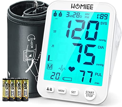 HOMIEE Upper Arm Blood Pressure Monitor