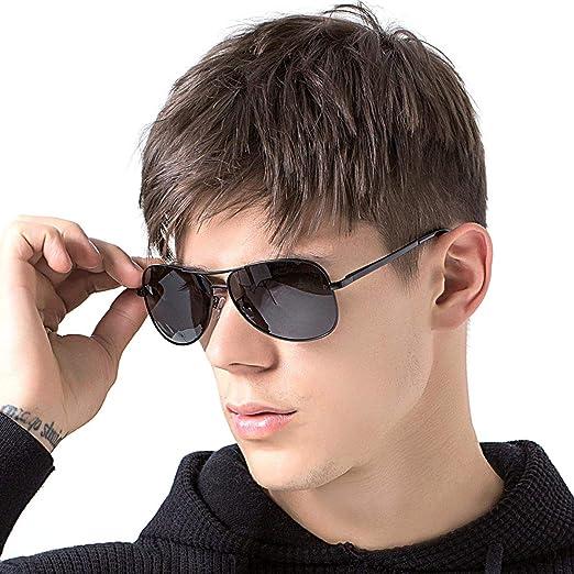 50c7ba8d82 Polarized Aviator Sunglasses for Men Women UV400 Protection Metal Frame  With Spring Hinge Adult Sunglasses Black