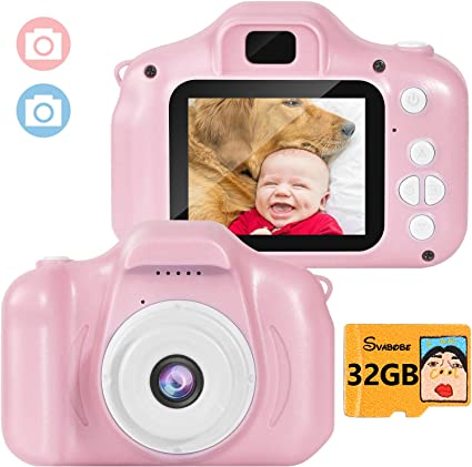 Kids Mini Camera Children Digital 8MP Little Lens Cameras 32GB DIY Camcorder Action Video Recorder Birthday//Christmas//New Year Gift