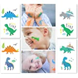 NEW: Dinosaur Temporary Tattoos for Boys - 24 Tattoos (Pack of 12 Sheets) - Great Children Party Favors - Non Toxic FDA Approved Colorants - Fake, Press On and Removable - 110%