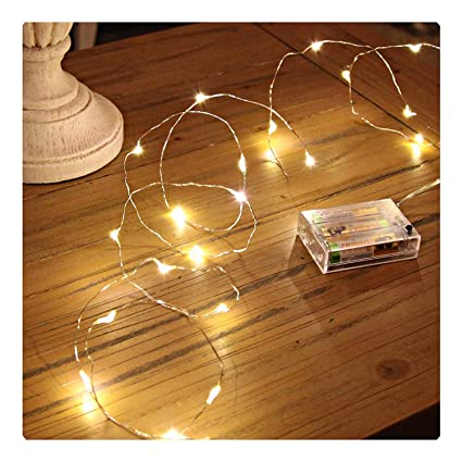 Sanniu Led String Lights, Mini Battery Powered Copper Wire Starry Fairy  Lights, Battery Operated - Amazon.com : Sanniu Led String Lights, Mini Battery Powered Copper