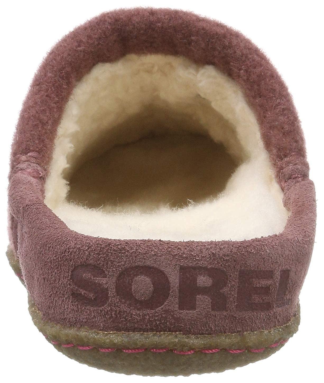 Sorel Sorel Sorel Damen Nakiska Scuff Slipper Rot/Braun (Light Raisin/Natural) 8032c7