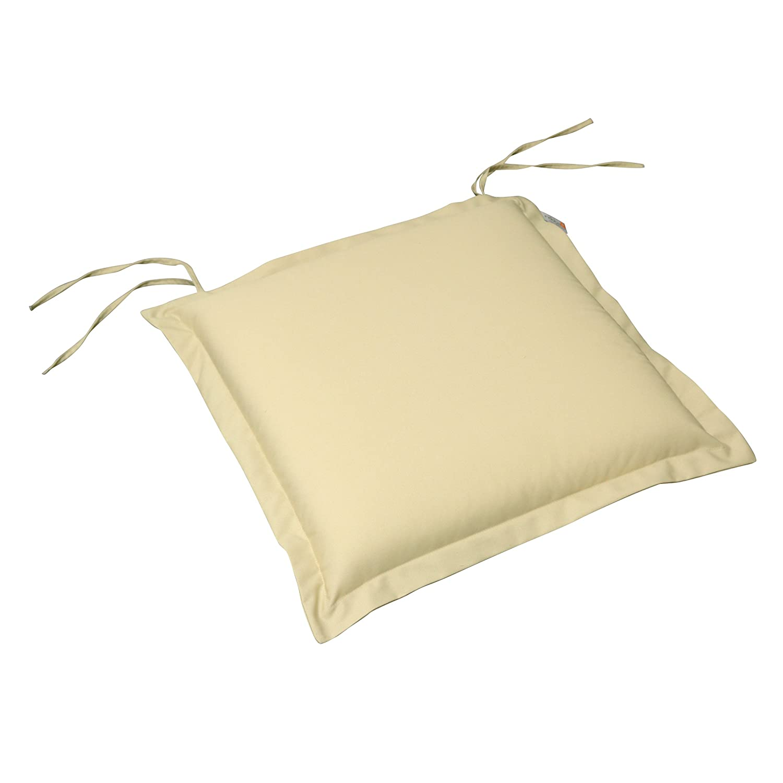 indoba® IND-70454-AUSK-2 - Serie Premium - Sitzkissen Gartenmöbel - extra dick, Beige - 2 Stück