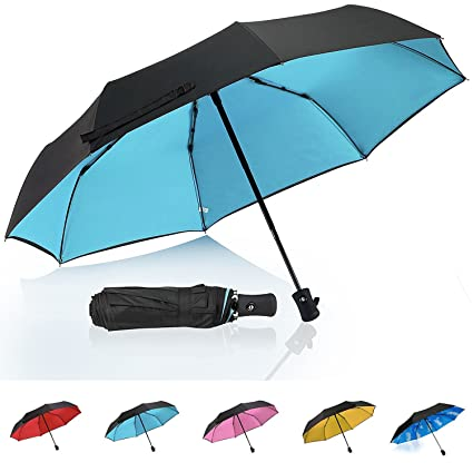 60d64f759 QHUMO Travel Umbrella Windproof with Double Layer, Collapsible Compact  Umbrellas for Women and Men,