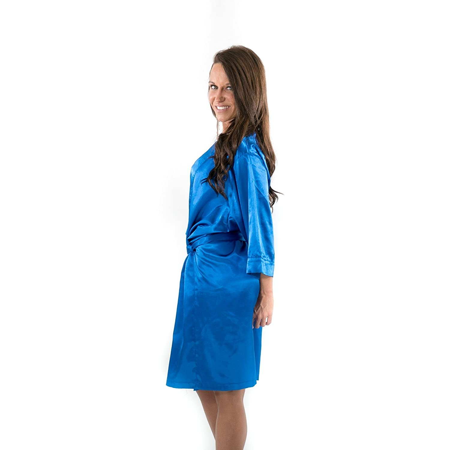 Kimono Robe for Women by Vicky Ross Fit | Black at Amazon Womens Clothing store: