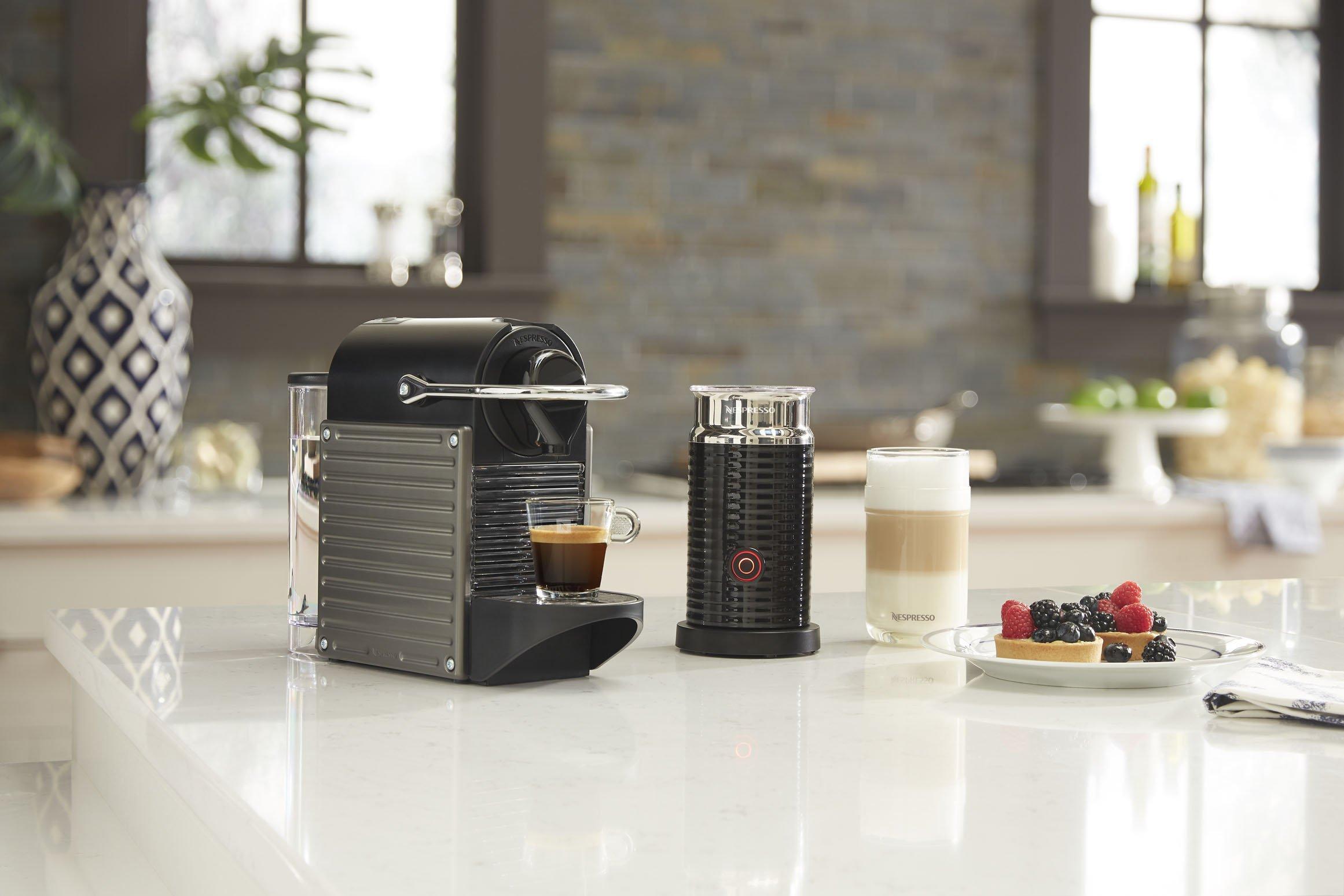 Nespresso Pixie Espresso Machine by Breville with Aeroccino, Titan by Breville (Image #4)