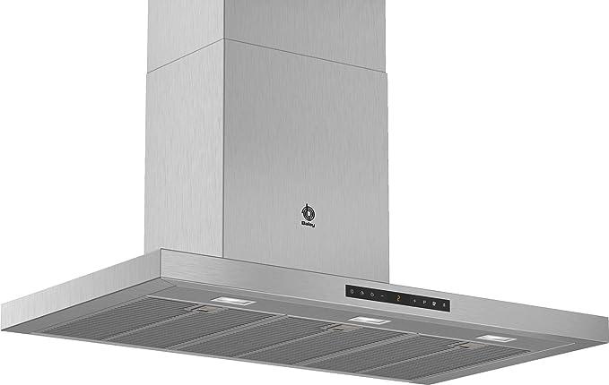 Balay 3BC998HX - Campana (843 m³h, CanalizadoRecirculación, A, A, B, 55 dB) Acero Inoxidable: 380.86: Amazon.es: Hogar