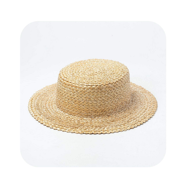 002 7cm Straw Hat Sun Hat Women Summer Beach Vacation Hats Lady Safari Hat,