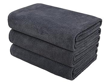 Hope Shine juego de toallas gimnasio microfibra secado rápido toallas deportivas suaves Paquete de 3, 40cm X80cm (GrisX3): Amazon.es: Deportes y aire libre
