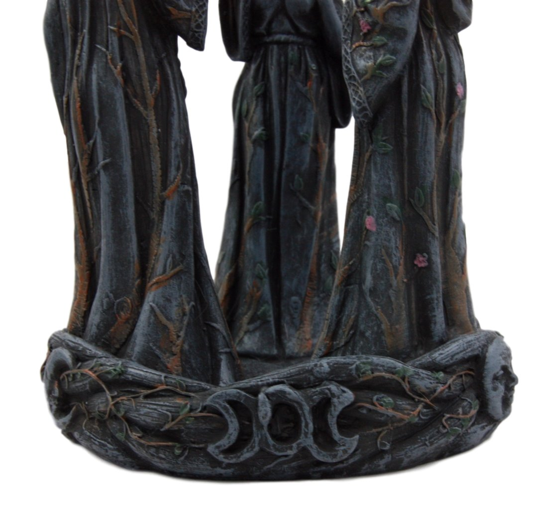 Atlantic Collectibles Wiccan Triple Goddess Maiden Expectant Mother & Crone Pagan Decorative Backflow Incense Cone Burner Figurine by Atlantic (Image #7)