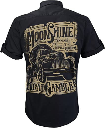 Camisa Manga Corta, Worker Shirt, Rock and Roll, Licore ...
