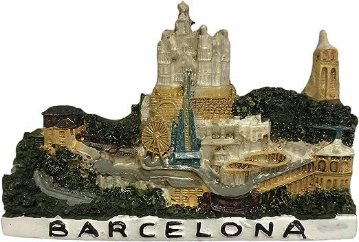 Imán de nevera Barcelona España 3D para recuerdos de viaje hogar y cocina decoración España imán de nevera de China: Amazon.es: Hogar