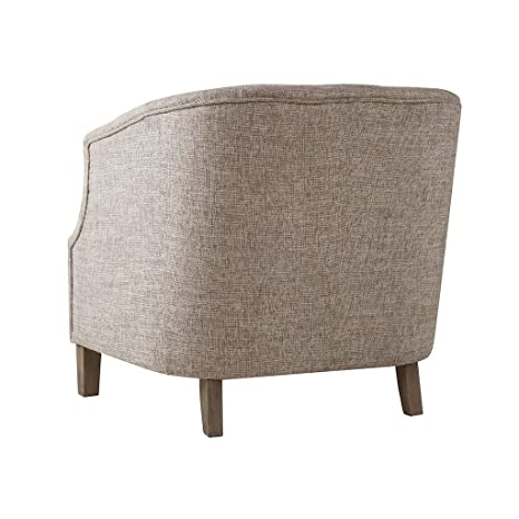 Fabulous Madison Park Ansley Accent Chairs Solid Wood Button Tufted Armchair Modern Contemporary Style Living Room Sofa Furniture Barrel Receding Arm Design Bralicious Painted Fabric Chair Ideas Braliciousco