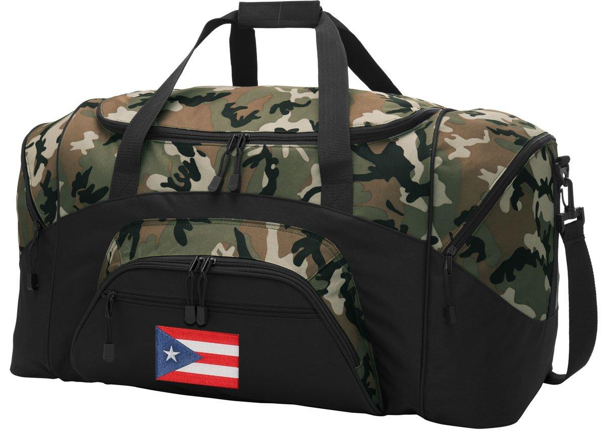 Puerto Rico Duffel Bag CAMO Puerto Rico Flag Gym Bags Luggage