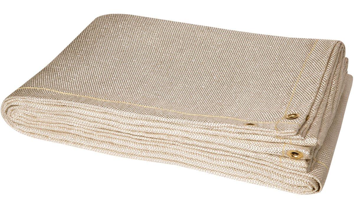 Steiner 382-10X10 Tough Guard HD 24-Ounce Heat Cleaned Fiberglass Welding Blanket, Tan, 10' x 10' 10' x 10' ERB