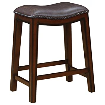 Magnificent Amazon Com Backless Counter Height Stools With Nailhead Cjindustries Chair Design For Home Cjindustriesco