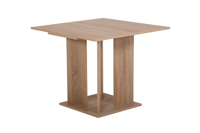 Esstisch Cora, Holzwerkstoff Dekor Sonoma Eiche, ausziehbar  90-128 89 x 89 90-128 x 76cm 18ad58