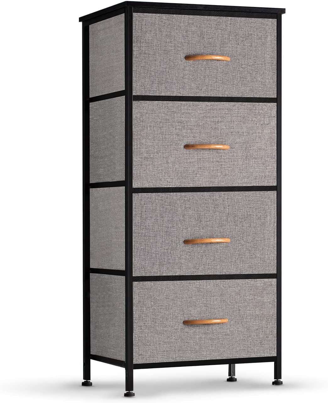 COSYLAND 4 Drawer Dresser Storage Tower, Fabric Organizer Unit Stable for Bedroom, Closet, Entryway, Hallway, Nursery Room: Home & Kitchen