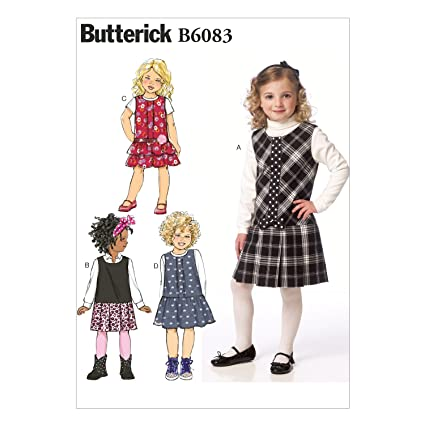 43d1bade17971 Image Unavailable. Image not available for. Color  BUTTERICK PATTERNS B6083  Children s Girls  Jumper