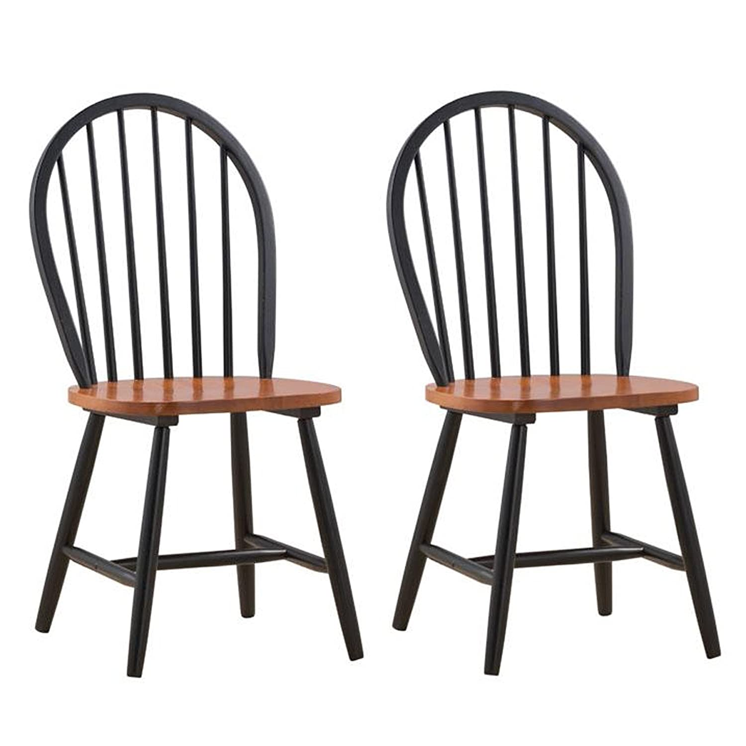 Amazon.com   Boraam 31516 Farmhouse Chair, Black/Cherry, Set Of 2   Chairs