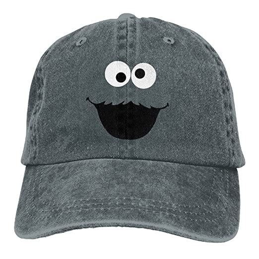 Quxueyuannan Cookie Monster Cap Adjustable Vintage Washed Denim Baseball Cap  Dad Hat at Amazon Men s Clothing store  9ab1e876209