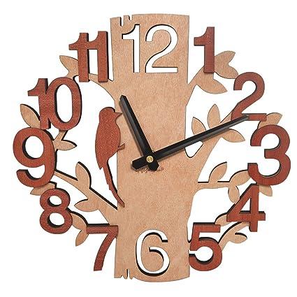 Giftgarden Reloj de Pared en Forma de árbol de Relojes de Madera