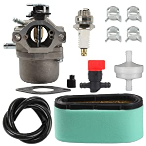 Harbot 799728 Carburetor + 496894S 496894 493909 Air Filter +272403S 272403 Pre Filter Fuel Line Filter for Briggs Stratton 498027 498231 499161 494502 494392 495706 496592 498231 Carb