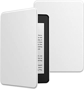 10th Generation, 2018 Releases MoKo Case Fits Kindle Paperwhite Black /& White Magnolia Premium Ultra Lightweight Shell Cover with Auto Wake//Sleep for  Kindle Paperwhite 2018 E-reader