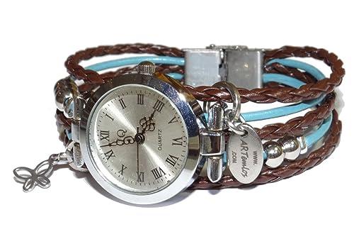 ARTemlos® reg; Reloj para mujer, hecho a mano, acero inoxidable, metal
