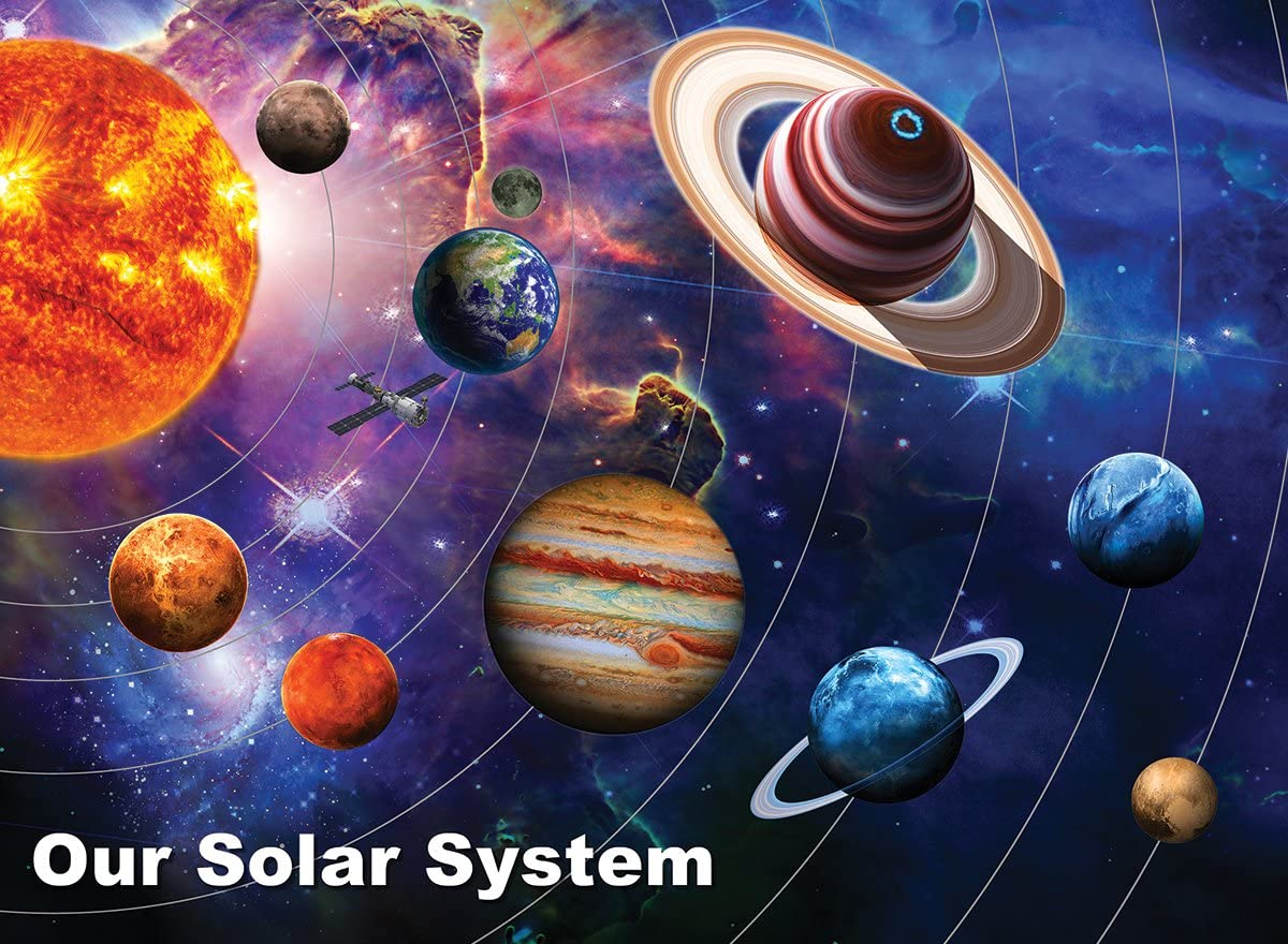 White Mountain Puzzles Solar System - 300 Piece Jigsaw Puzzle
