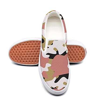 5bd5bf26b900b Sernfinjdr Women's Multicam Camouflage Camo Red Casual Canvas Slip on Shoes  Designer Cycling Shoes