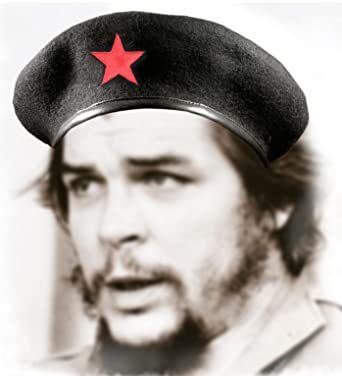 Amazon.com  Che Guevara Store Black Military Beret with Red Star ... 7d795d3be47