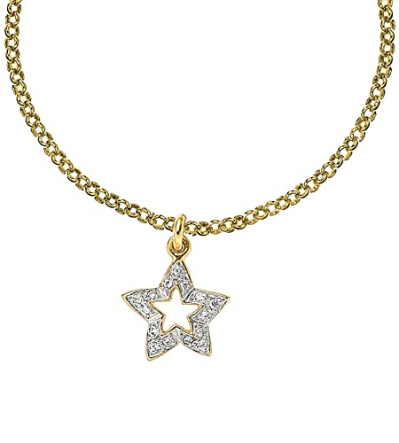 DOWER & HALL Entwined Yellow Gold Plated Infinity Symbols 46cm Silver Chain Necklace GupL4yZ